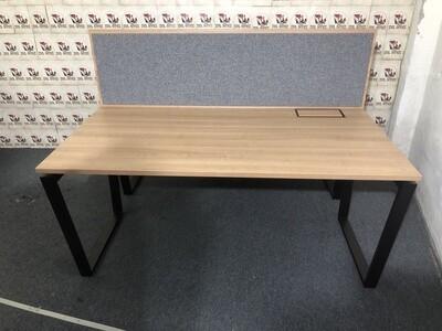 Bejot 2er Set Schreibtisch Arbeitsplatz mit Akustiktrennwand