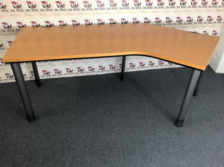 Büromöbel Haworth Schreibtisch 135° in Buche Winkelform Rechts