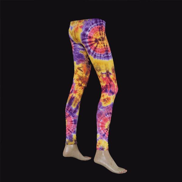 LEGGINGS - Gelb-Violett