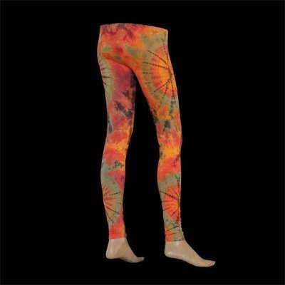LEGGINGS - Orange-Olivgrün-Braun