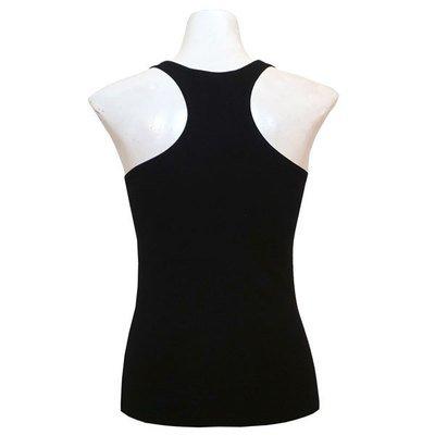 Yoga Tank Shirt - Schwarz (Rücken X)