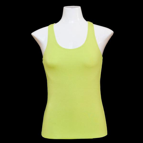 Yoga Tank Shirt - Gelb-Grün T005