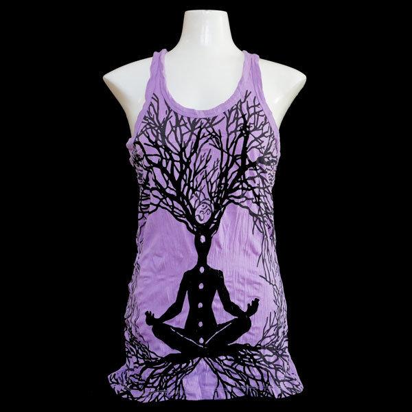 "SURE Tank Shirt  ""Mit Yoga wächst du"" - Lila T009"