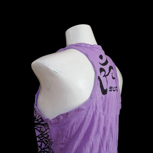 "SURE Tank Shirt  ""Mit Yoga wächst du"" - Lila"