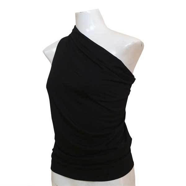 Yoga Falten-Shirt - Schwarz