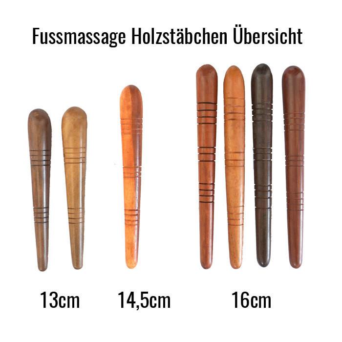 10 Fussmassage Holzstäbchen gemischt