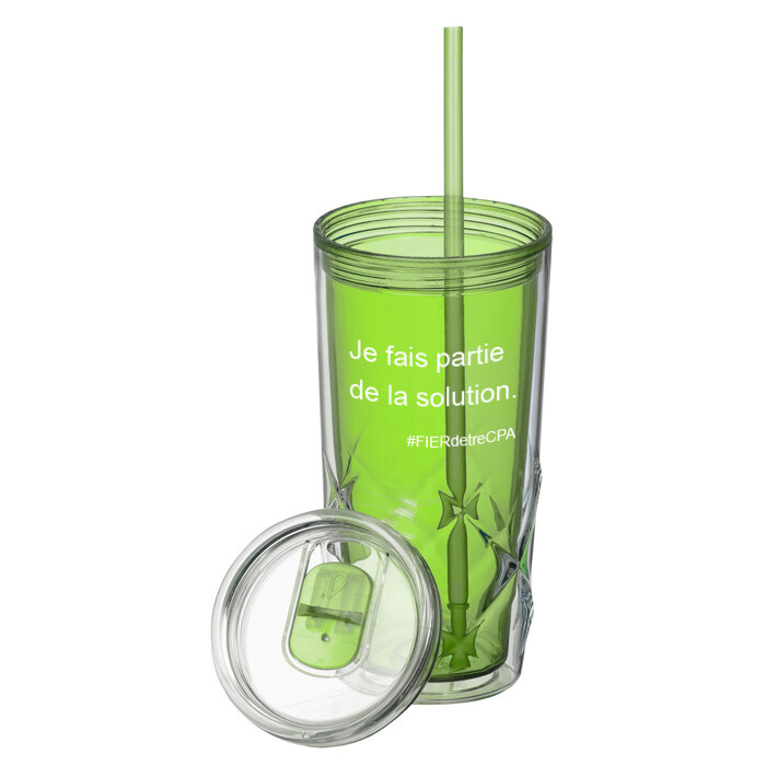 #FIERdetreCPA Tumbler with Straw (French)