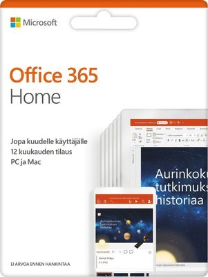 Microsoft Office 365 Home - 12 kk, aktivointikortti