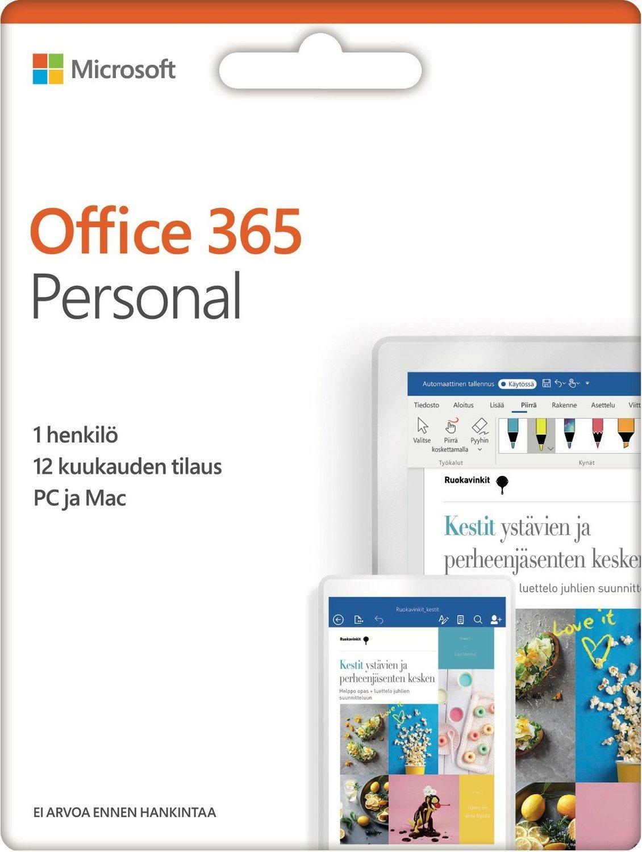 Microsoft Office 365 Personal - 12 kk, aktivointikortti