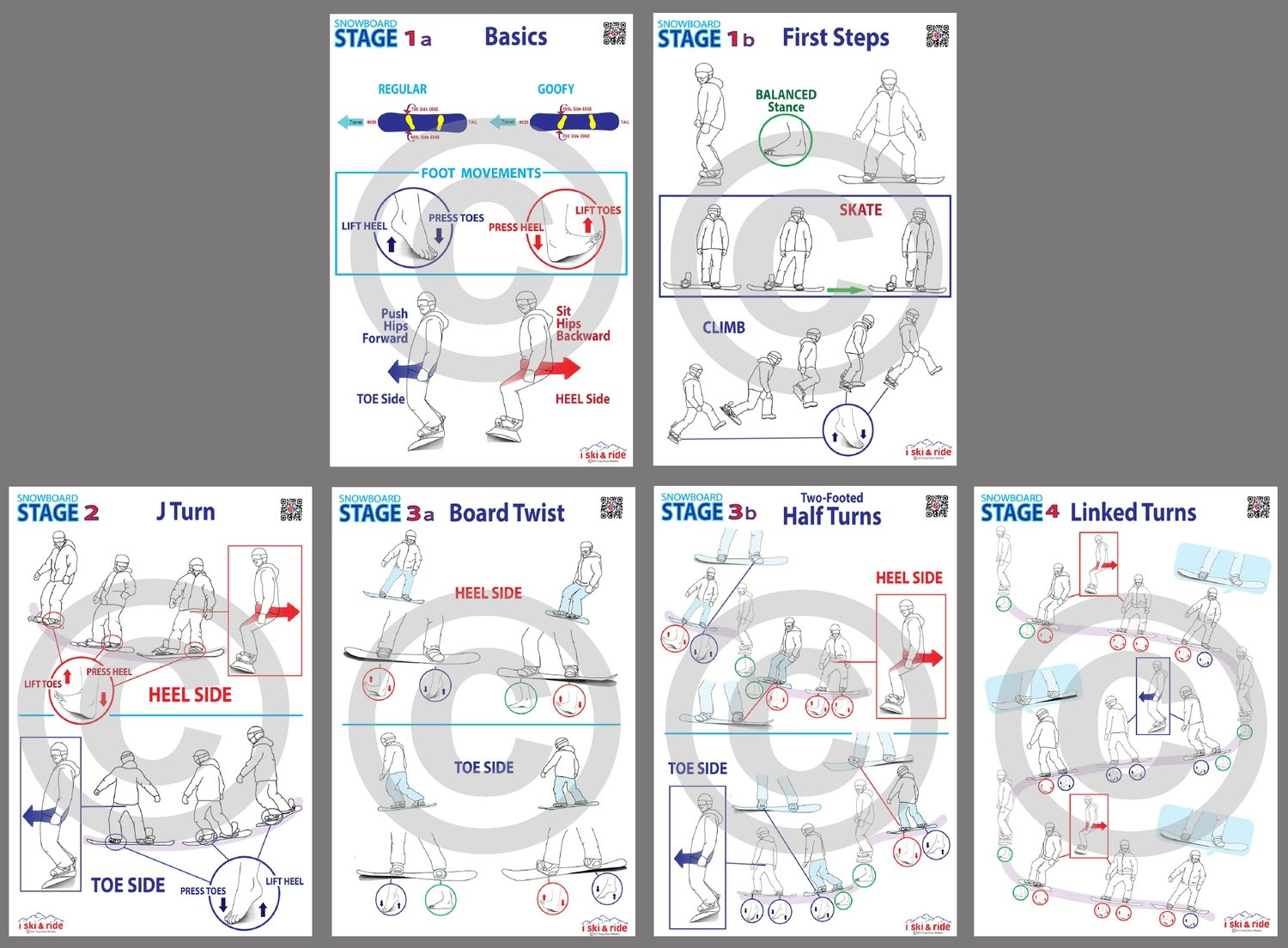 """24""""x36"""" ISR SNOWBOARD Stage Signs - Complete Set of 6"""