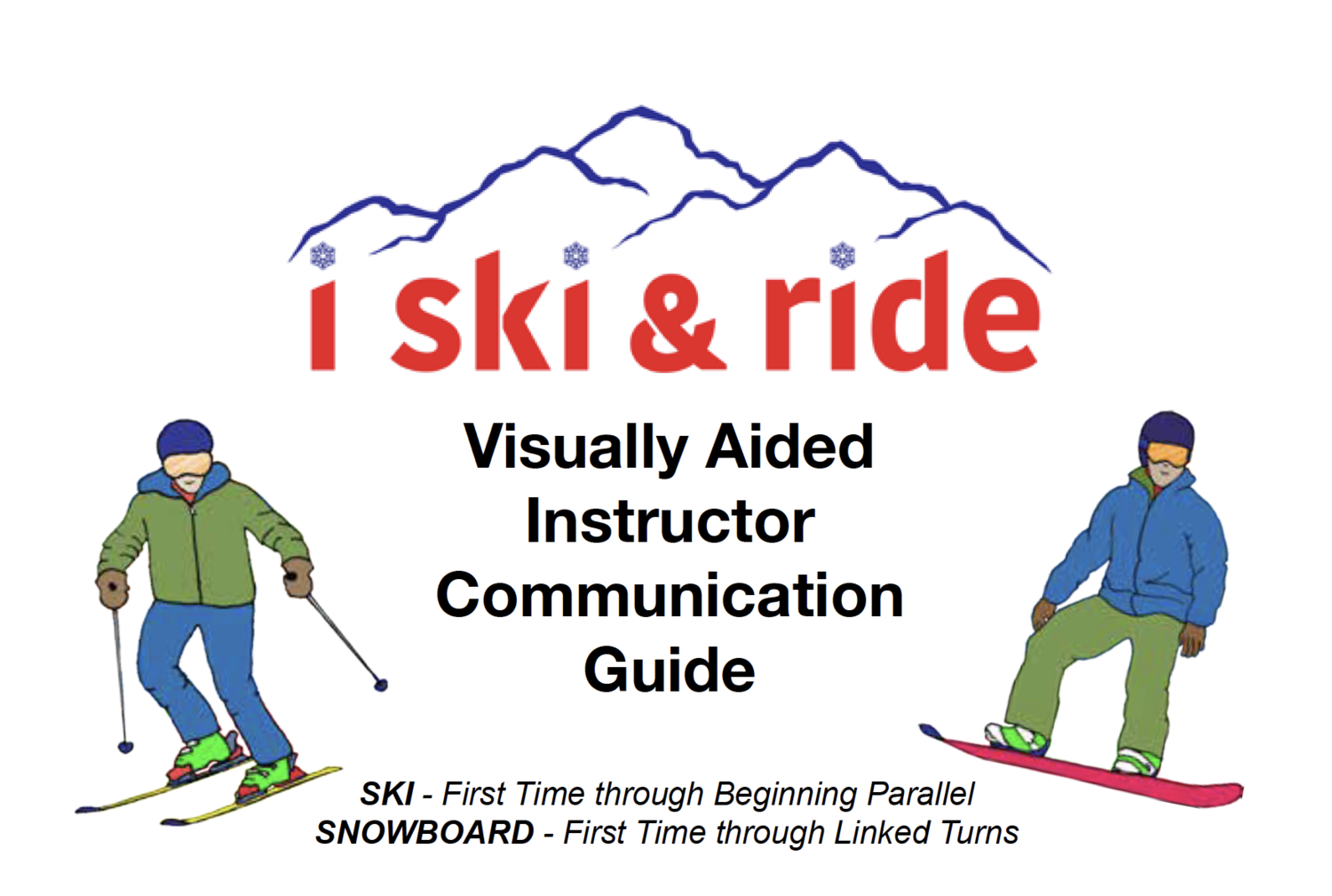 "I Ski and Ride Pocket Communication Guide 4""x6"" Spiral Bound"