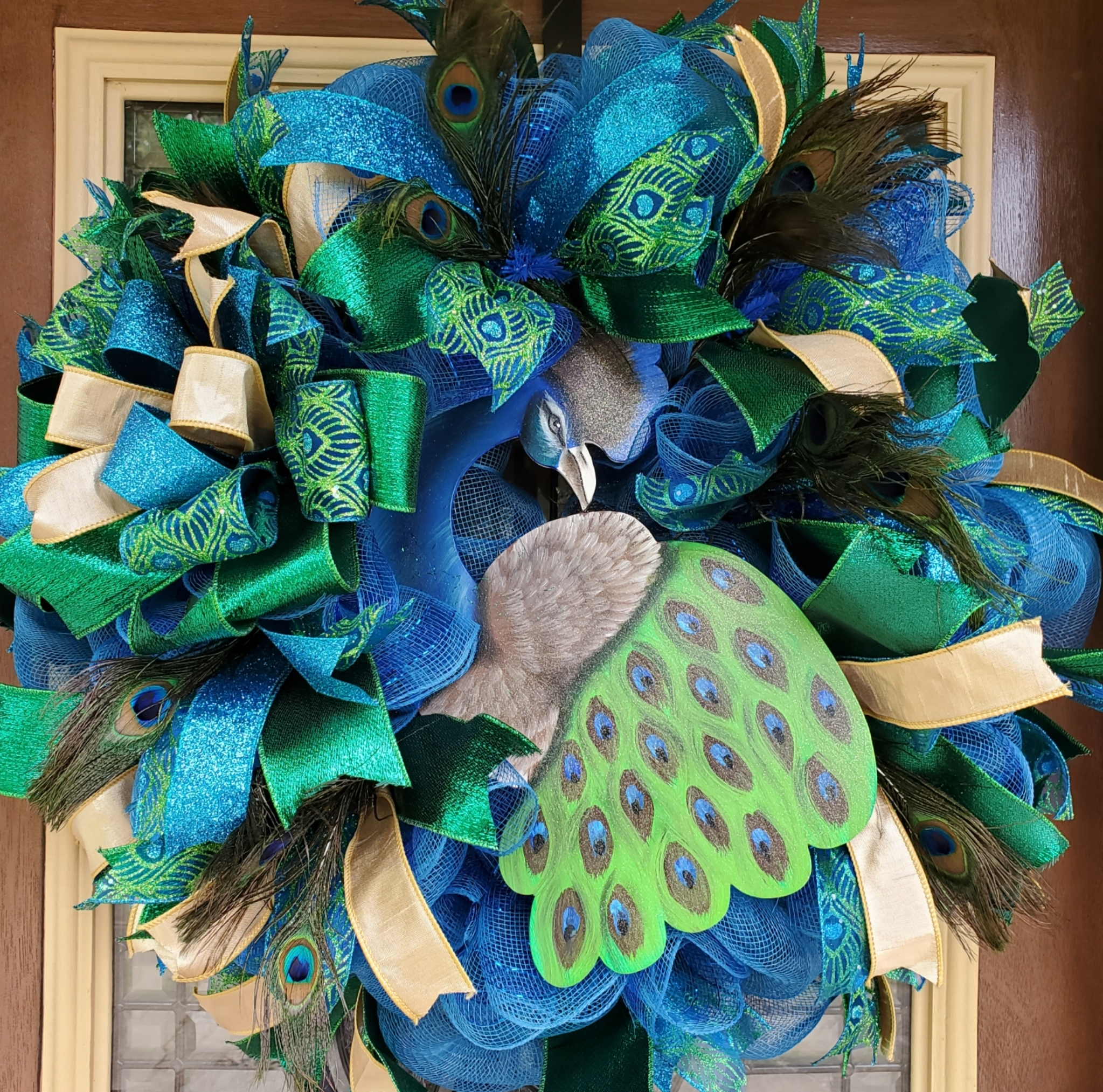 Large Peacock Wreath 00042