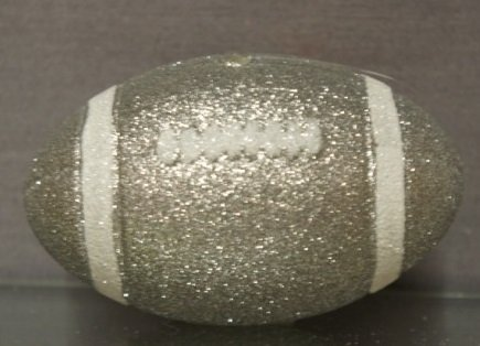 "5"" 3D glitter football (jersey # included)"