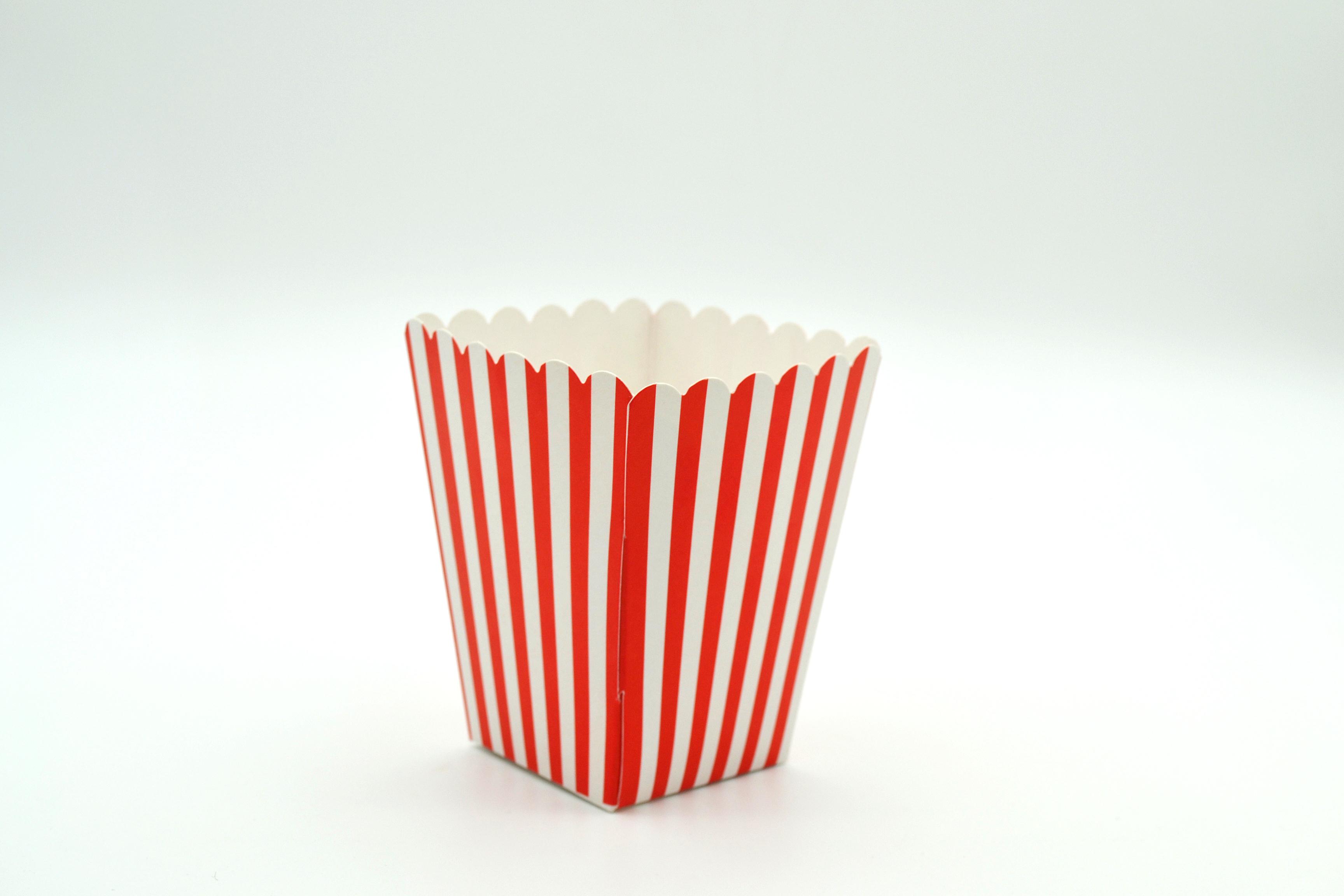 Box Popcorn Mini Red 5 x 5 x 10 cm (each)