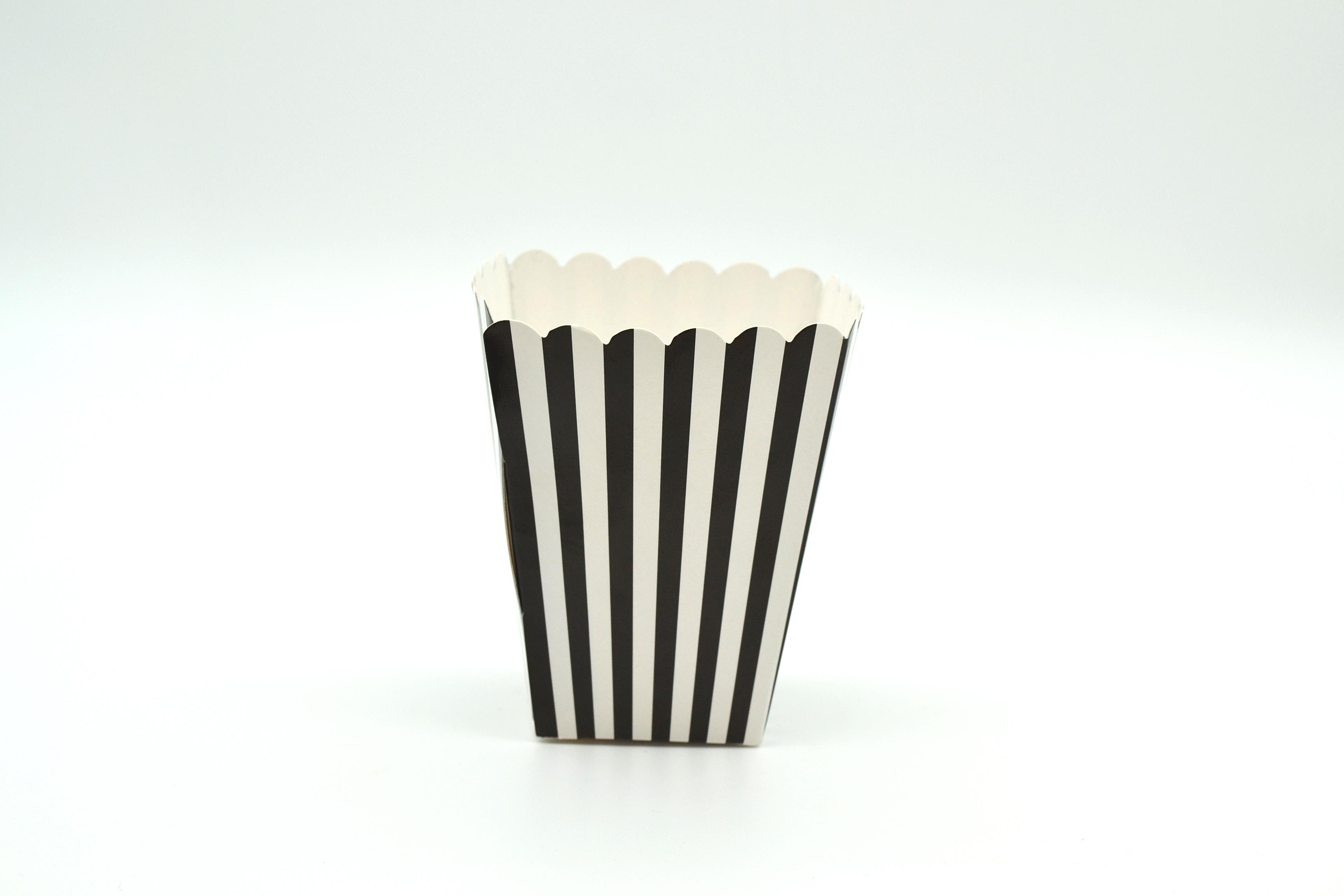 Box Popcorn Mini Black  5 x 5 x 10 cm (each) POPMBLK
