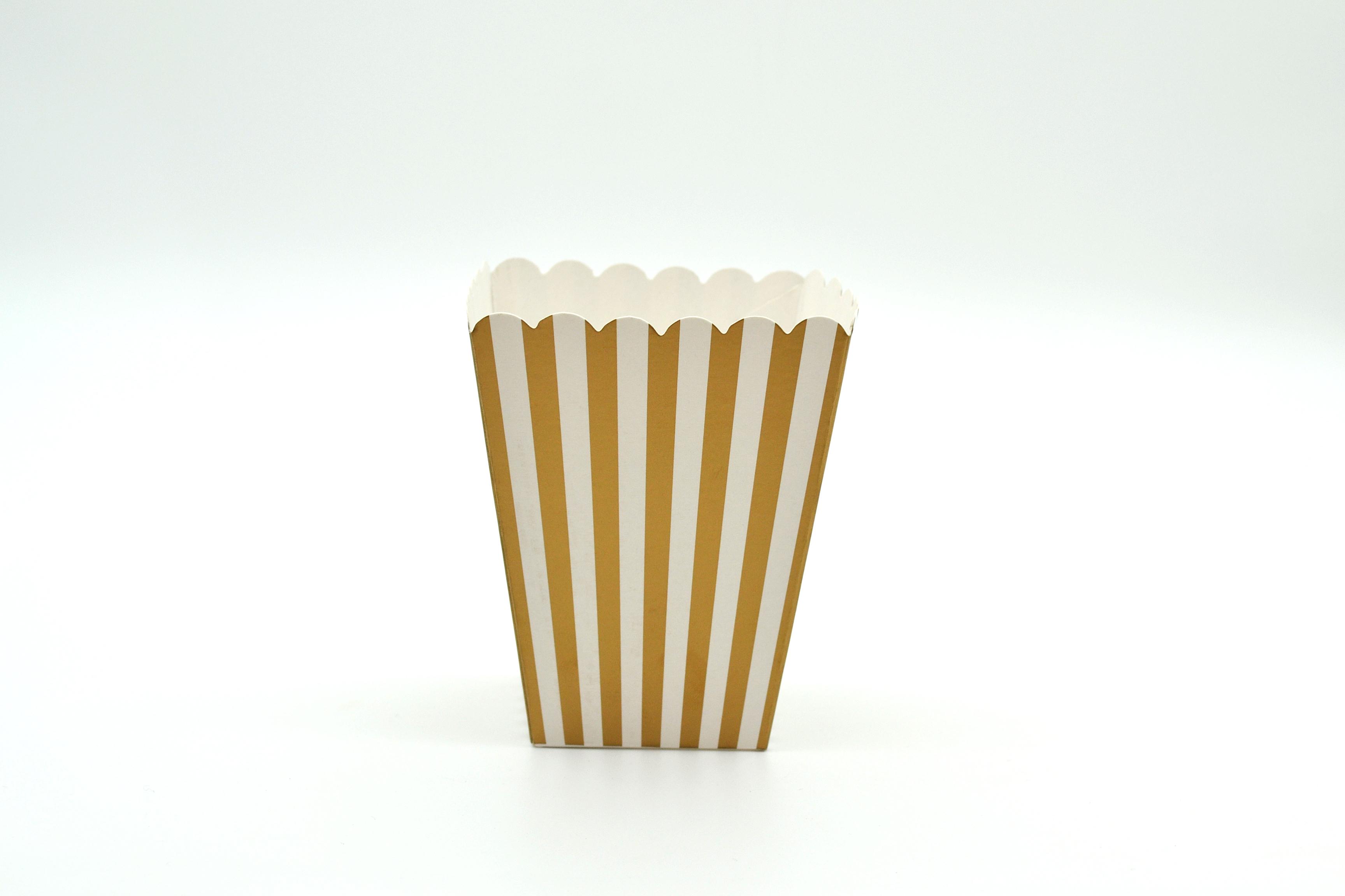 Box Popcorn Mini Gold 5 x 5 x 10 cm (each) POPMG