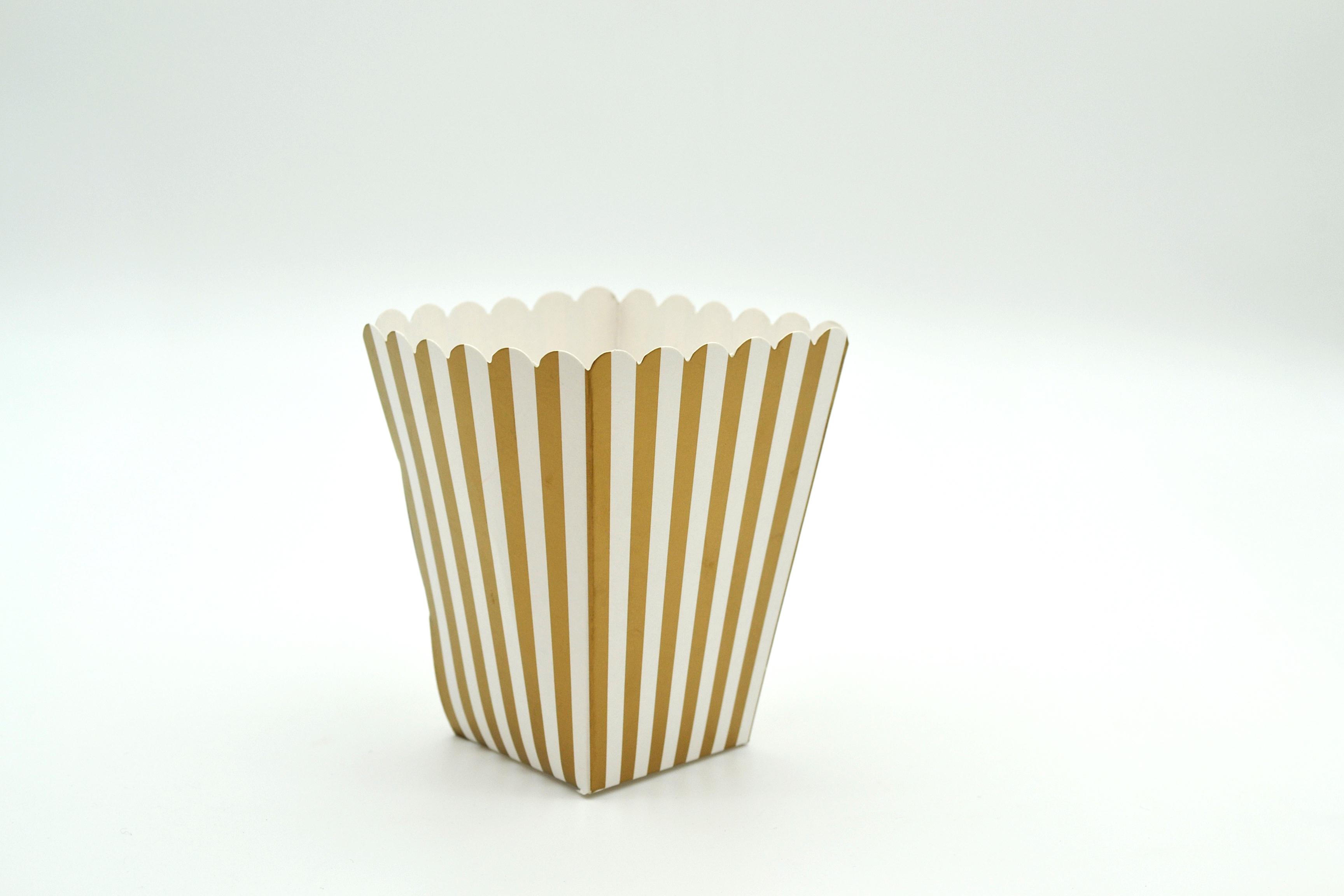 Box Popcorn Mini Gold 5 x 5 x 10 cm (each)