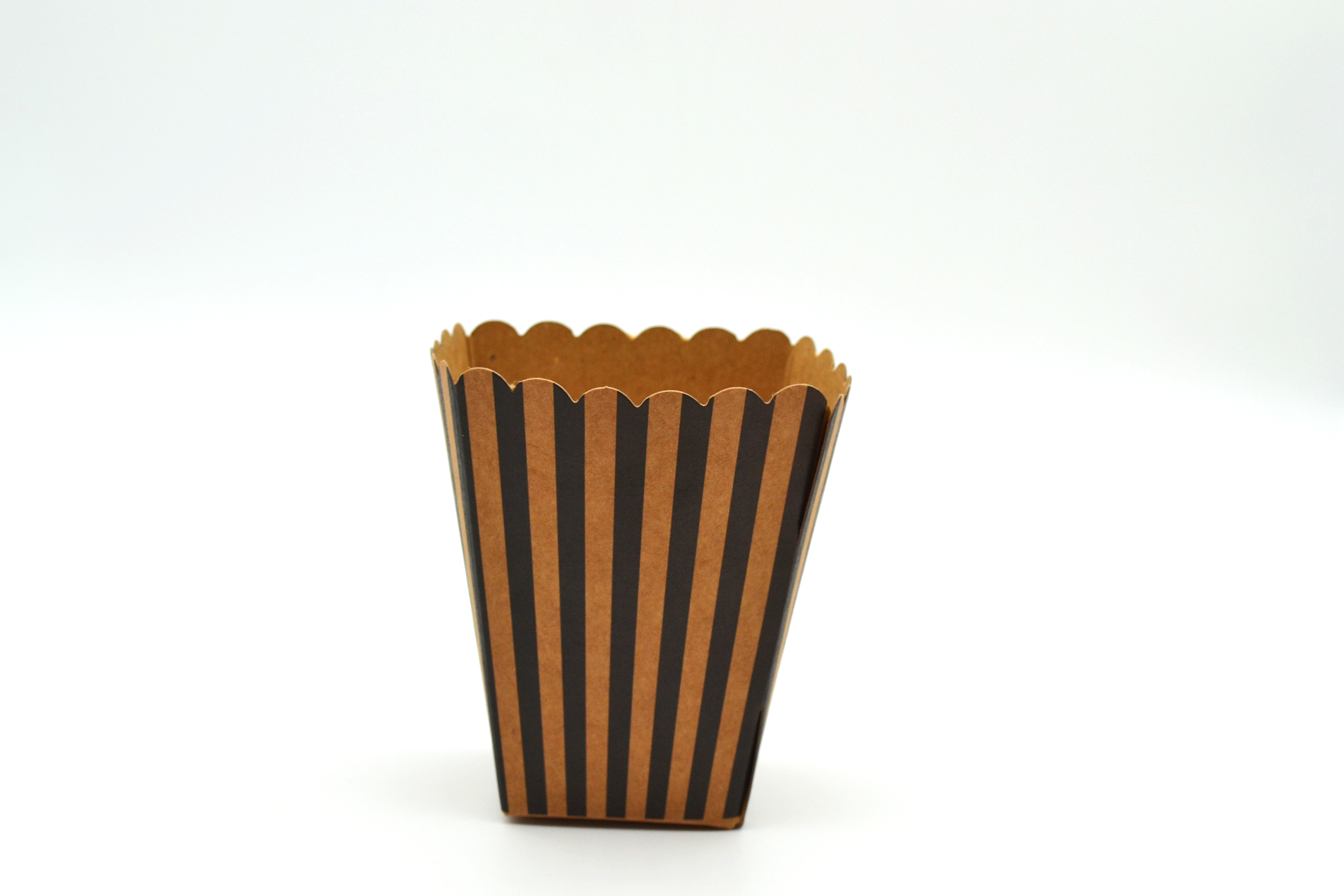 Box Popcorn Mini Eco B/Stripe 5 x 5 x 10 cm (each)