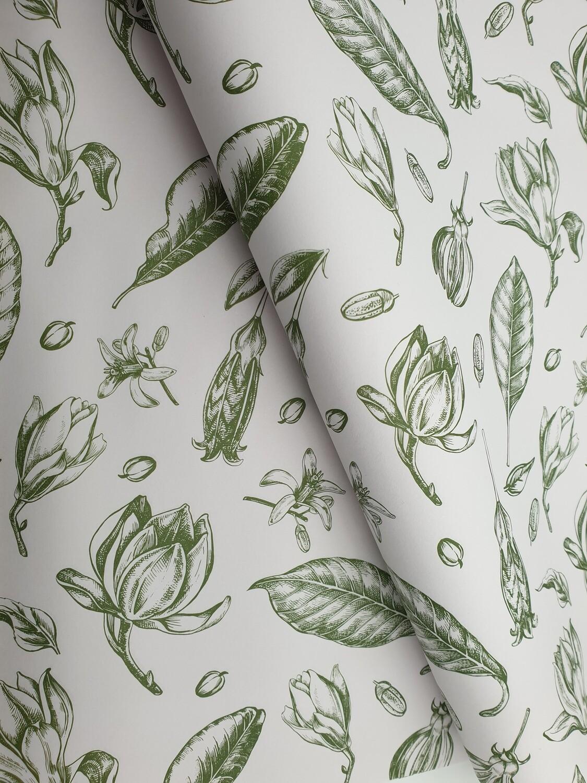 Bespoke Newsprint Reams 420 x 594 mm Vintage Flower Olive (10's)