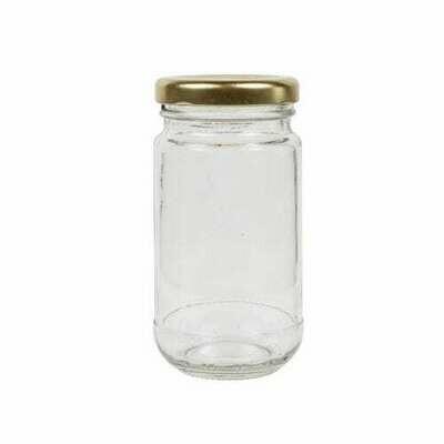 Glass Jar C Sheer 250 ml - Gold Lid (ea)