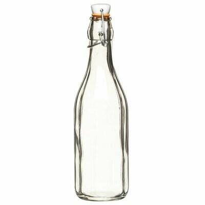 HM Glass Bottle 500 ml ceramic clip lid (ea)