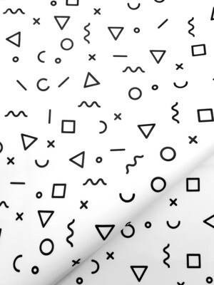Tissue Paper - Squiggles - Black On White - (Qty 25)