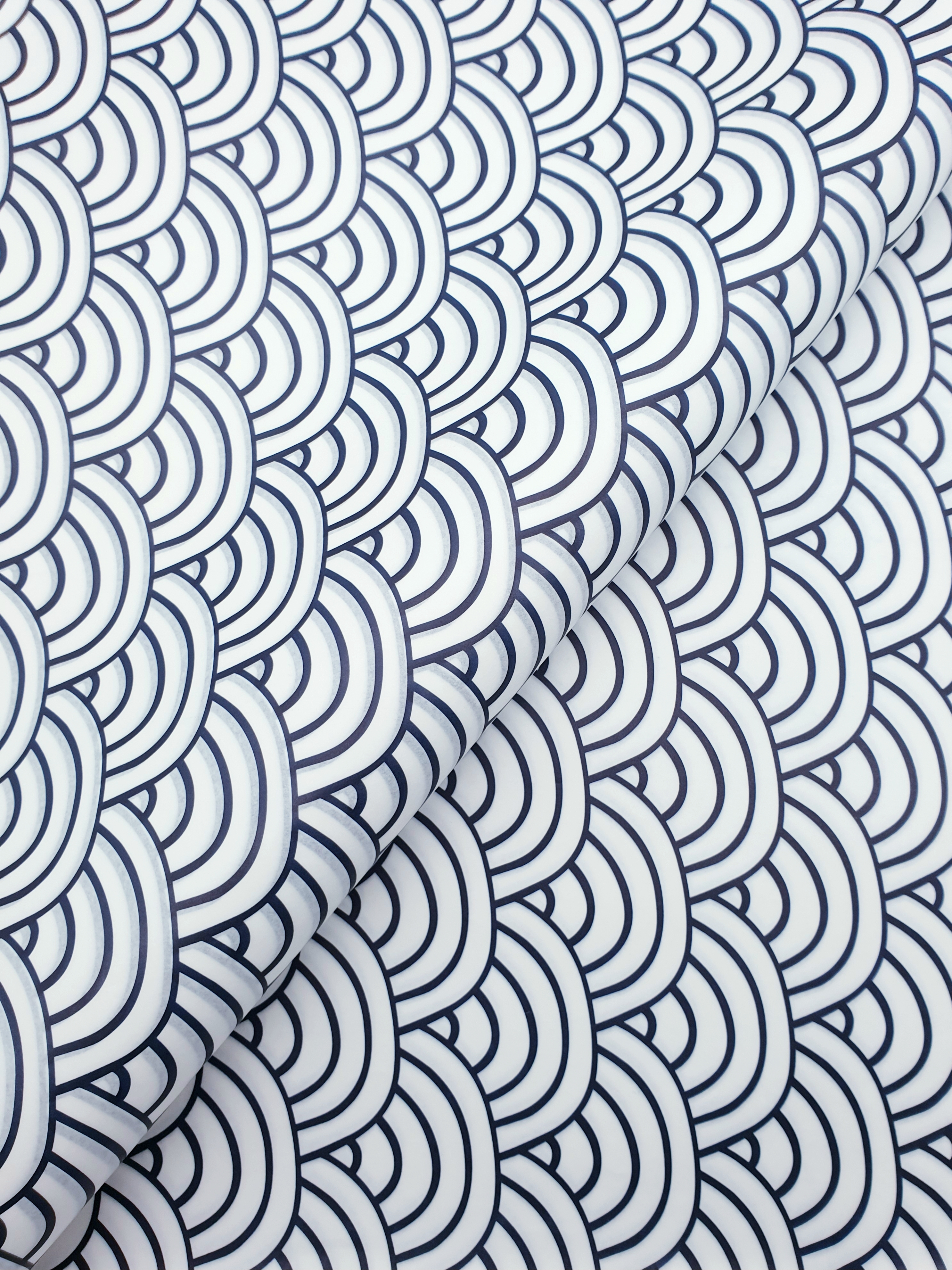 Tissue Paper -Waves - Navy On White (Qty 25) TPWAVE