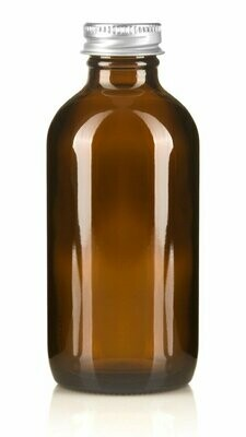 Amber Glass Bottle 200ml Aluminium Cap 28mm(ea)