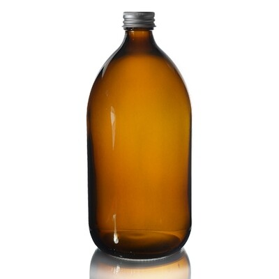 Amber Glass Bottle 500ml Aluminium Cap 28mm(ea)