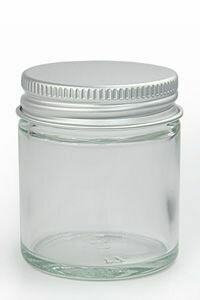 Glass Jar 100ml Ointment + Aluminium Lid