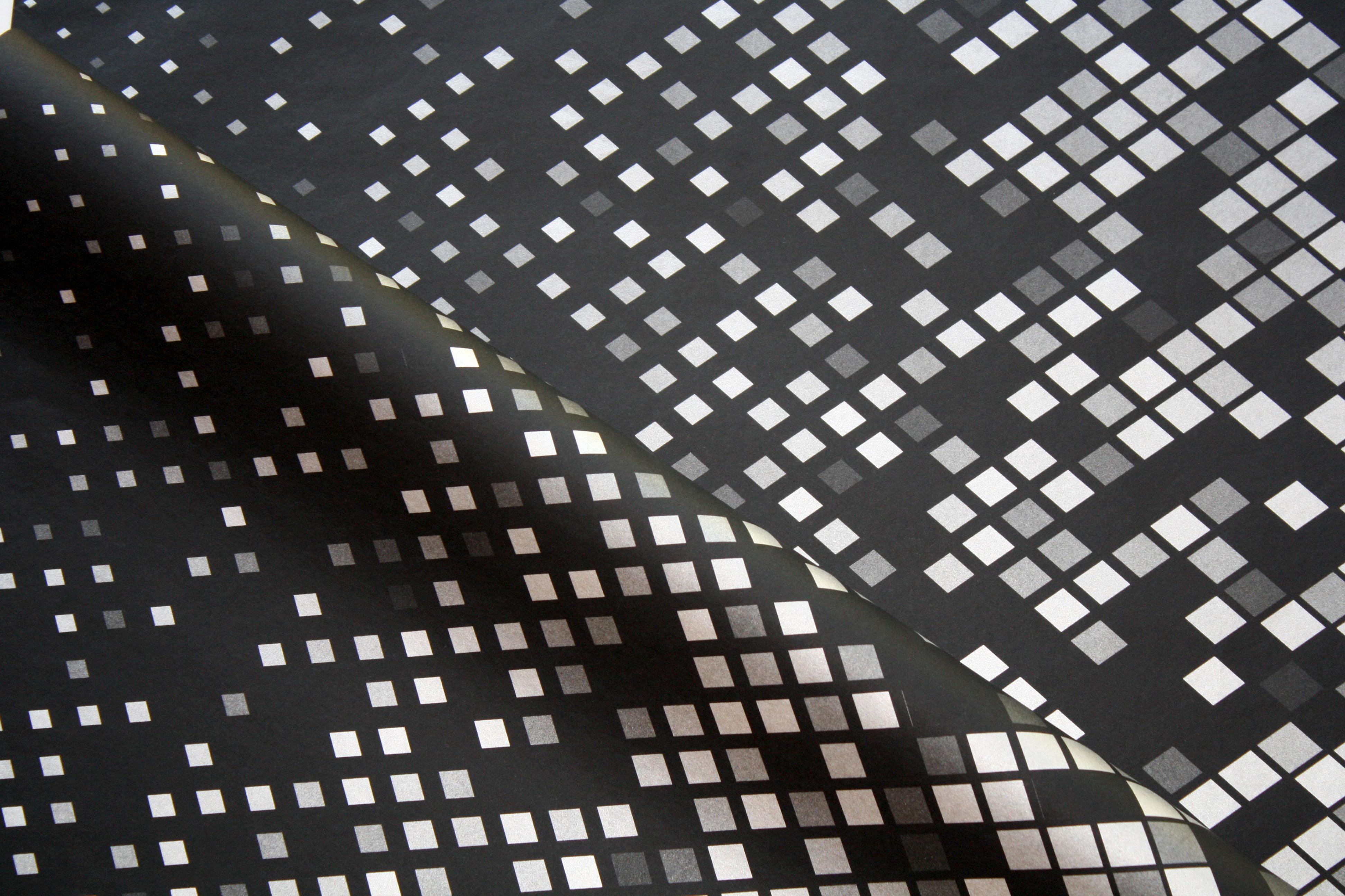 Tissue Paper- Diamond - Silver On Black (Qty 25) TPDSB