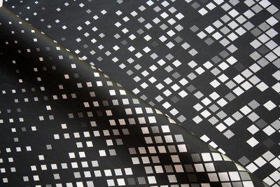 Tissue Paper- Diamond - Silver On Black (Qty 25)