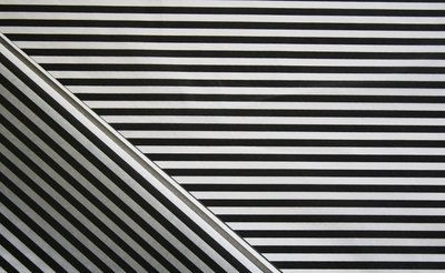 Tissue Paper - Candy Stripe - Black On White (Qty 25)