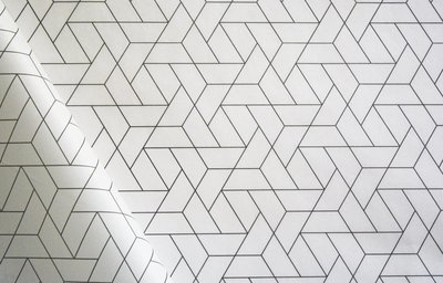 Tissue Paper - Geometric - Black On White (Qty 25)