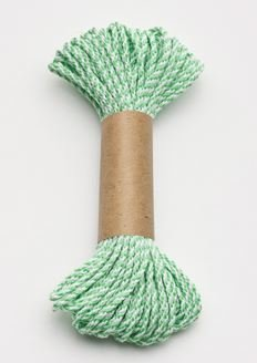 Bakers Twine 10 m x 2 mm - Lime Green & White (ea) 00023