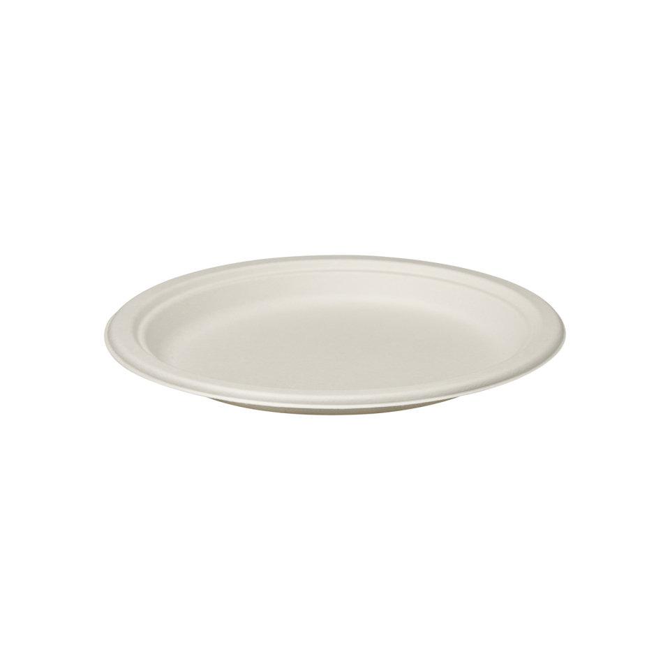 E - EcoWare Compostable Plate 23 cm (Qty 50) EWP2-23