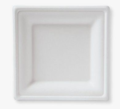 E - EcoWare Compostable Plate Square 16cm (Qty 50)