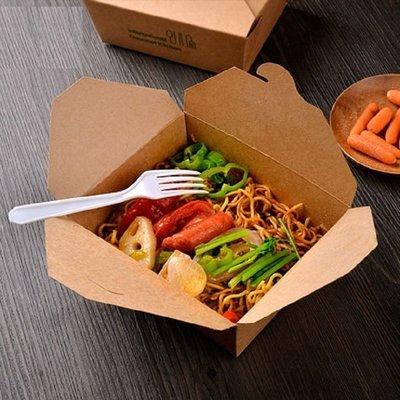 Eco Kraft Polylined Lunch Box no 8 Medium (Qty 50)