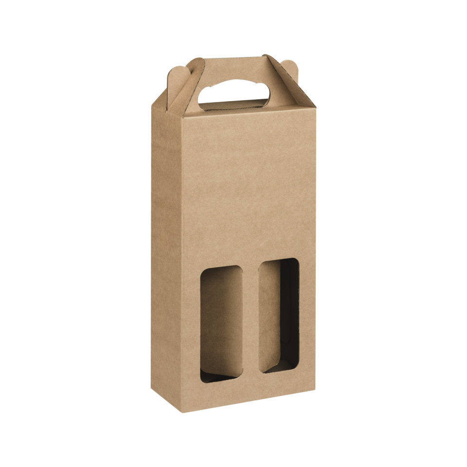 Box Corrugated Bottle Pack 2 - Kraft (each) B2