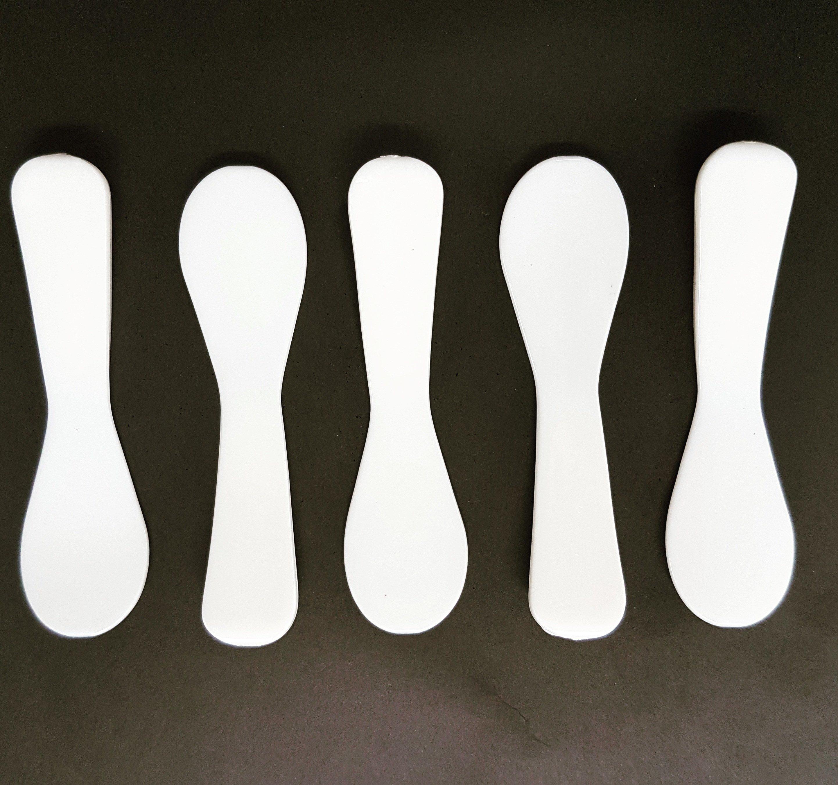 Catering Spoon Mini Spatula White (Qty 50) CS50651