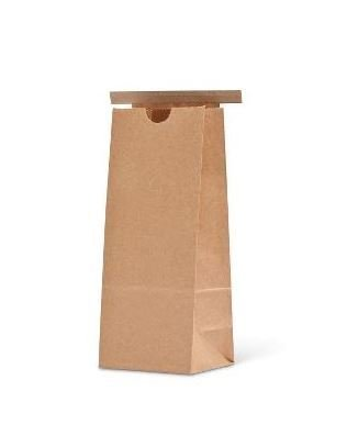 Paper Bag Brown Tin Tie Small (Qty 50) D4000T