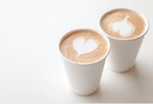 Coffee Cups Double Wall 250ml - White (Qty 50)