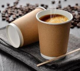 Coffee Cups Double Wall 250ml - Kraft (Qty 50) CDWK250