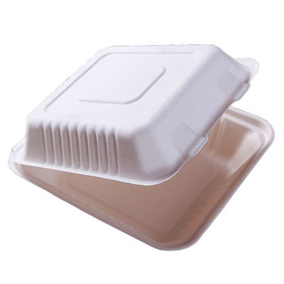 E - Compostable Clamshell Box - No Division (Qty 50)