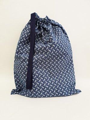 Shweshwe Bag Blue+White - Medium