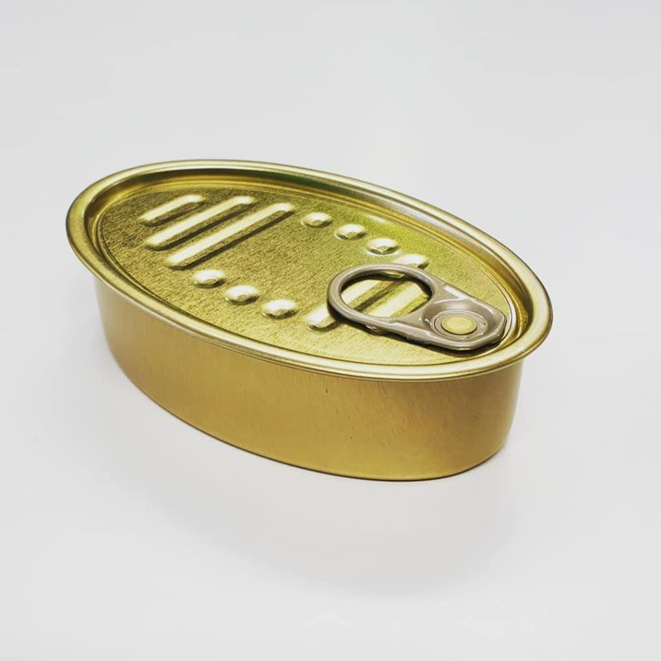 Tin Can & Lid - Oval Sardine (each)