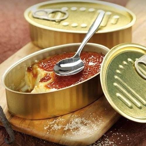 Tin Can & Lid - Oval Sardine (each)