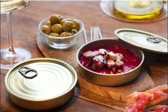 Tin Can & Lid - Round Sardine (each)