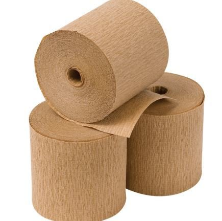 Eco Packing Crepe Paper on Roll Kraft (50m roll) CPRK