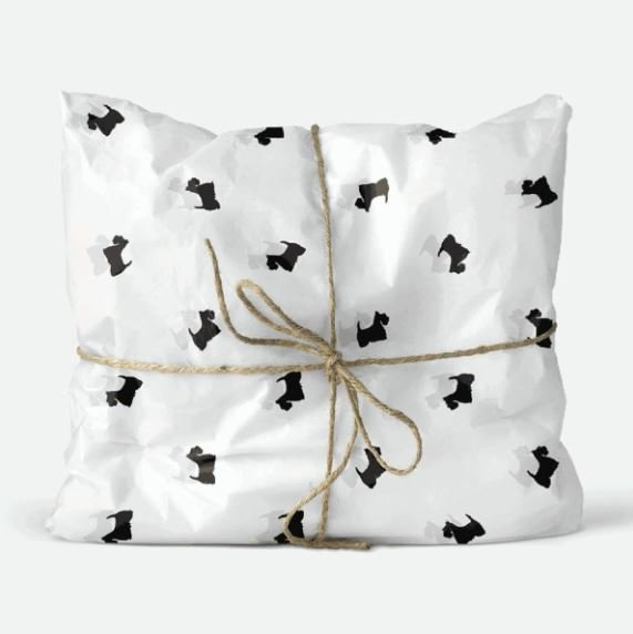 Tissue Paper - Scottie - Black On White (Qty 25)